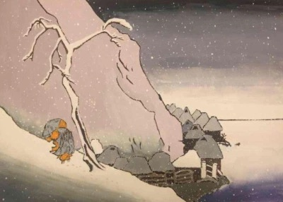 The Buddhist Monk Poet Nichiren struggling though Sado Island's winter.